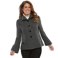 plus size bell sleeve tweed jacket