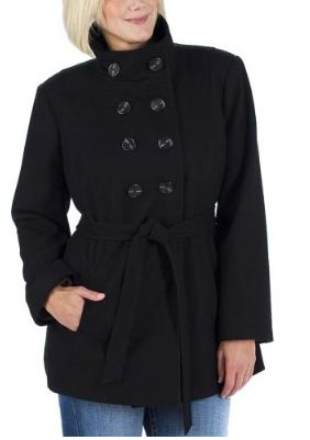 Black Plus Size Trench Coat