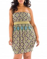 Strapless Bubble Dress | Plus Size Clothing Outsize Apparel